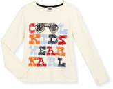 Karl Lagerfeld Cool Kids Wear Jersey Tee, White, Size 6-10