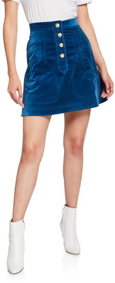 Derek Lam 10 Crosby A-Line Mini Skirt with Snaps