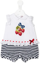 MonnaLisa sequin strawberry embroidered shorties