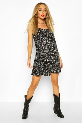 boohoo Polka Dot Cami Slip Swing Dress