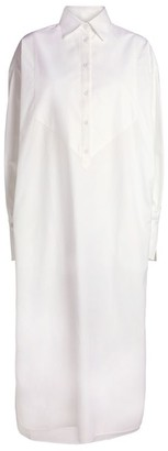 Mark Kenly Domino Tan Cotton Dawna Shirt Dress