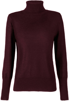 Aqvarossa Lima Women's Knitted Turtleneck - Bordeaux