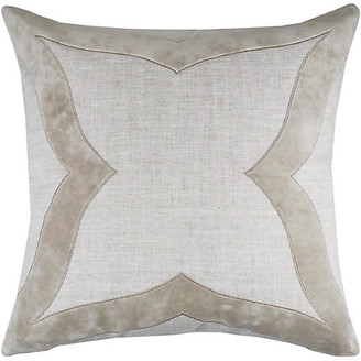 The Piper Collection Elle 22x22 Pillow - Oatmeal Velvet