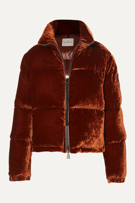Moncler Quilted Velvet Down Jacket - Copper