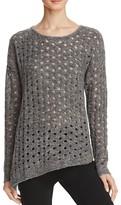 Aqua Dalia Circle Stitch Crewneck Sweater