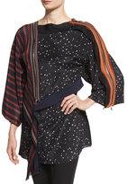 3.1 Phillip Lim Silk Kimono Combo Top, Black