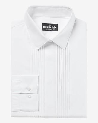 Express Slim Pleated Tuxedo 1Mx Dress Shirt