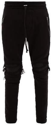 Amiri Mx1 Distressed Cotton Track Pants - Mens - Black