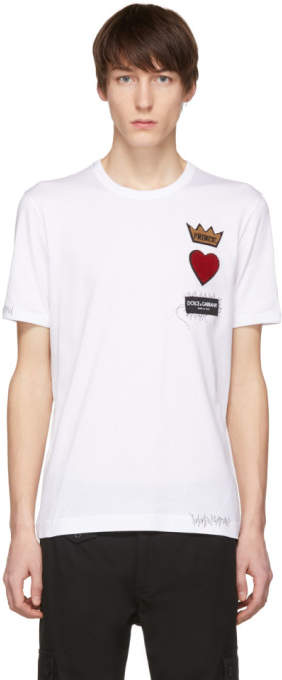 Dolce & Gabbana White Prince Patch T-Shirt