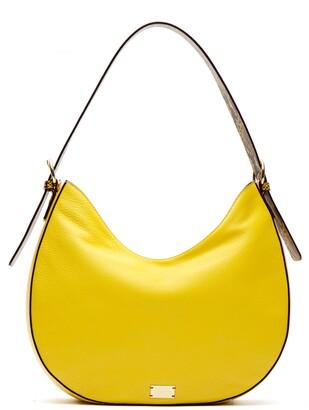 Frances Valentine Honey Round Leather Hobo