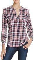 Joie Iloani Plaid Silk Shirt