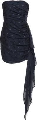 Mason by Michelle Mason Strapless Ruched Fil Coupe Silk-blend Chiffon Mini Dress