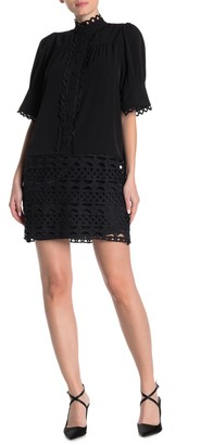 Gracia Scalloped Lace Puff Sleeve Dress