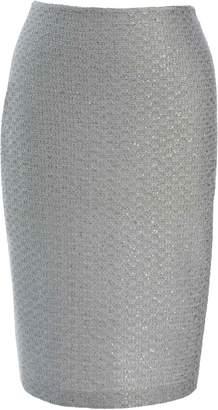 St. John Glitter Sequin Knit Skirt