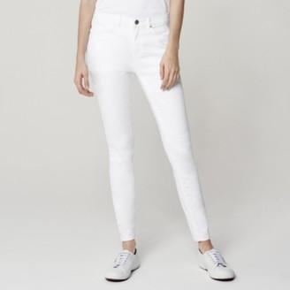 The White Company Symons Skinny Jeans - 28 length, White, 8