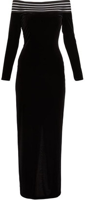 Gina Bacconi Bertina Velvet Maxi Dress