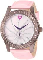 Brillier Women's 03-72327-12 Kalypso Plum-Plated Pink Leather Watch