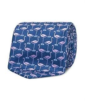 Van Heusen Navy Flamingo Tie