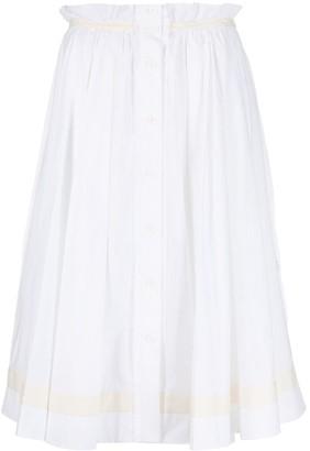 Moschino scalloped-edge A-line skirt
