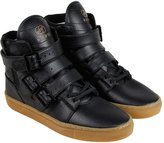 Radii Straight Jacket Vlc Mens Black Leather High Top Lace Up Sneakers Shoes 11