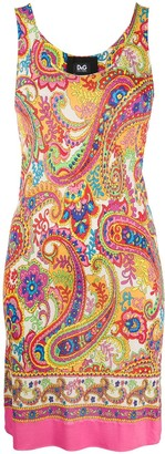 Dolce & Gabbana Pre Owned 1990s Paisley Print Fitted Dress