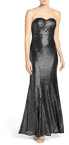 LuLu*s Women's Strapless Sequin Mermaid Gown