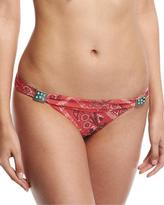 Ale By Alessandra Bandit Banded California Swim Bottom, Red