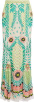 Temperley London Belle embroidered tulle maxi skirt