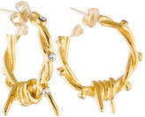 Tom Binns Barbed Wired Crystal Hoops
