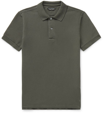 Tom Ford Slim-Fit Cotton-Pique Polo Shirt