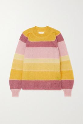 Etoile Isabel Marant Daniel Striped Mohair-blend Sweater