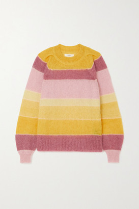 Etoile Isabel Marant Daniel Striped Mohair-blend Sweater - Yellow