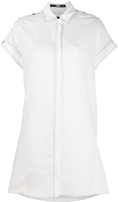 Karl Lagerfeld Paris Concealed Front Shirt Dress
