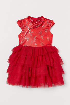 H&M Brocade Dress with Tulle Skirt