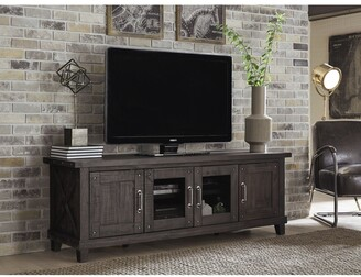 Overstock Yosemite Solid Wood Four Door Media Console in Cafe - 73 inches in width