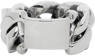 Bottega Veneta Silver Chain Ring