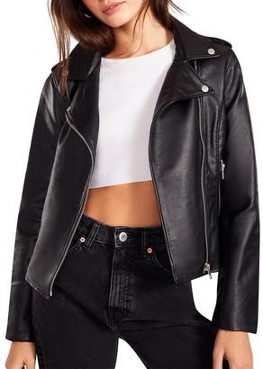 Steve Madden Just Ride Vegan Leather Jacket Black