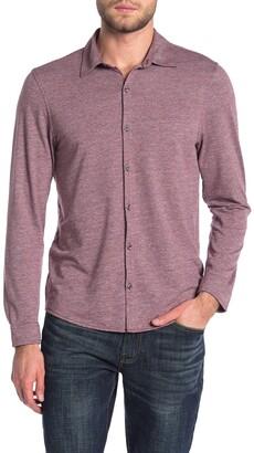 Zachary Prell Heathered Pique Regular Fit Shirt