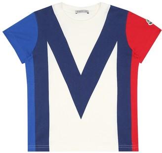 Moncler Enfant Printed cotton-jersey T-shirt