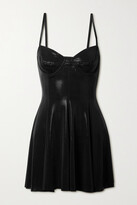 Thumbnail for your product : Norma Kamali Stretch-lame Swim Dress And Briefs Set - Black
