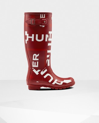 Hunter Women's Original Exploded Logo Tall Rain Boots