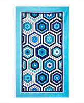 Jonathan Adler Honeycomb Beach Towel- Blue