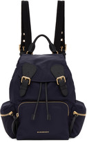 Burberry Navy Medium Nylon Rucksack