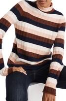 Madewell Evercrest Stripe Mock Neck Sweater