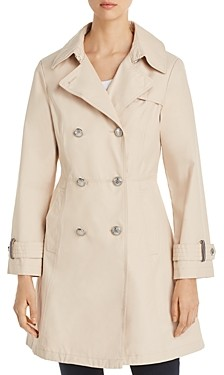 Vince Camuto Double-Breasted Button Front Trench Coat