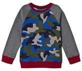 Lands' End Blue Camo Print Sweatshirt