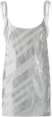 Versace Metallic Stripe Mini Dress