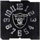 Oakland Raiders Vintage Square Clock