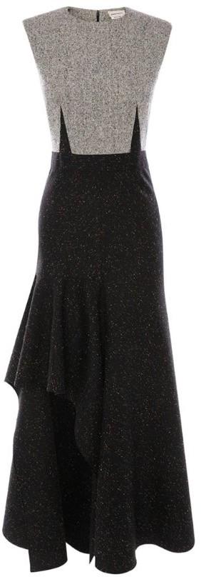 Alexander McQueen Knit Asymmetric Dress