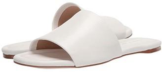 Massimo Matteo Leather Slide Sandal (Black) Women's Shoes